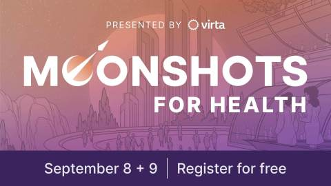 Virta's free, fully virtual Moonshots for Health conference kicks off September 8 (Graphic: Business Wire)