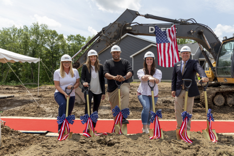 As part of its Built to Honor program, PulteGroup employees break ground at a veteran home donation event in June 2021. (Photo: Business Wire)