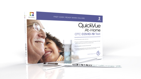 QuickVue® At-Home OTC COVID-19 rapid antigen tests available without a prescription at CVS Pharmacy locations nationwide and online at CVS.com (Photo: Business Wire)