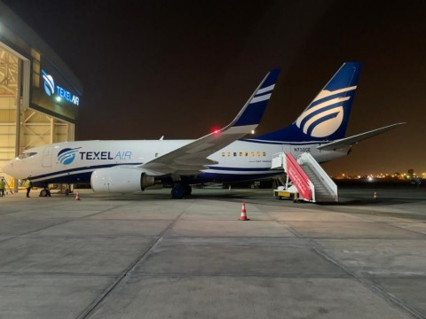 The second Boeing 737-700 FlexCombi™ arrived in Bahrain on August 29, 2021. (Photo: Business Wire)