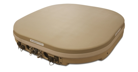 The u8 MIL hybrid satellite/cellular terminal is low profile, multi-orbit multi-network (GEO/LEO) ready, and easy to mount on vehicles and vessels. (Photo: Business Wire)