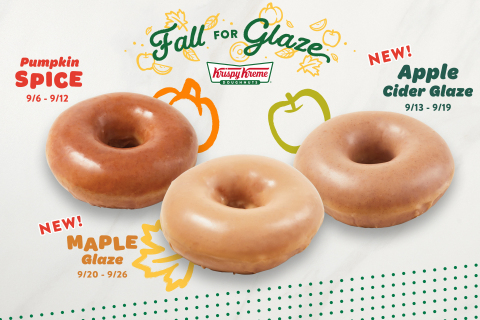 Fall-favorite glaze flavors available for one week each, Sept. 6 through 26 (Photo: Business Wire)