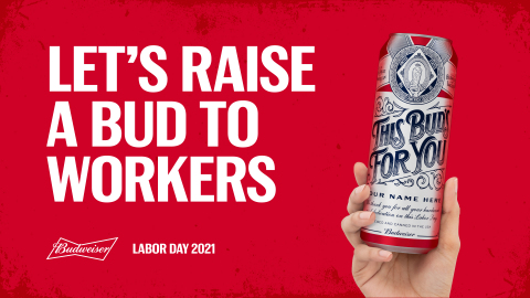 Labor Day Limited Edition Budweiser Cans (Graphic: Business Wire)
