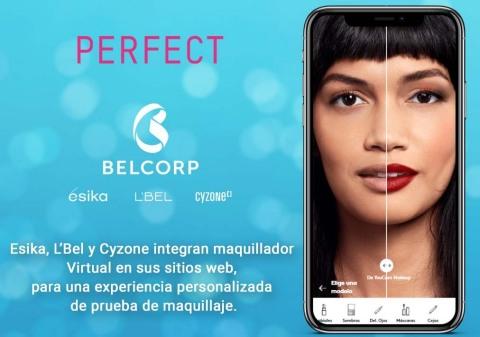 Belcorp transforma digitalmente su experiencia de compra a través de tecnología de prueba virtual basada en IA y RA (Photo: Business Wire)