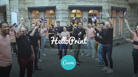 Helloprint launches industry-changing European partnership with Canva, the world's leading visual communications platform. (Photo: Business Wire)