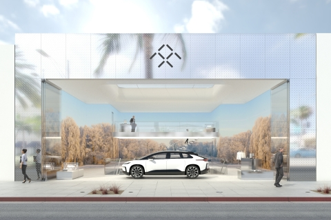 Faraday Future Retail Showroom Rendering (Photo: Business Wire)