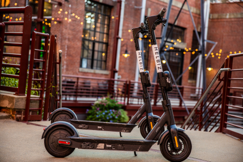 Micro-Mobility Leader, Helbiz, Launches Fleet of E-Scooters in Durham, North Carolina (Photo: Business Wire)