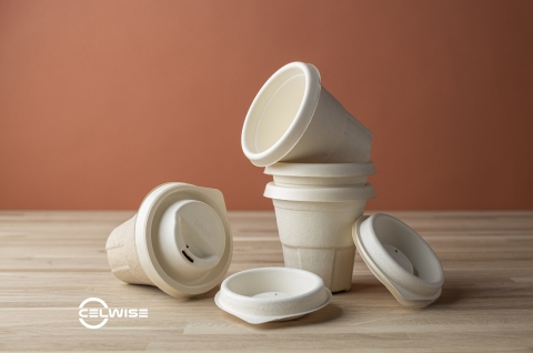 Celwise molded fiber products, such as those shown here, are made from wood pulp and other cellulose that is processed through unique 3D printed tooling. The end product is water-resistant and recyclable, renewable and biodegradable. (Photo: Business Wire)