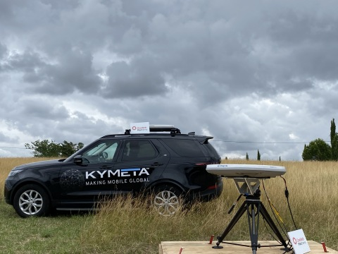 Kymeta and OneWeb performed a series of LEO satellite acquisition, tracking and throughput measurements in Toulouse, France. (Photo: Business Wire)