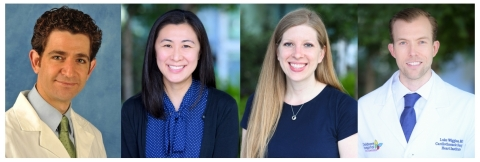 Darren Berman, MD, Shuo Wang, MD, Molly Weisert, MD, and Luke Wiggins, MD, join the Children's Hospital Los Angeles Heart Institute, ranked among the top three pediatric cardiology and heart surgery programs in the country. (Photo: Business Wire)