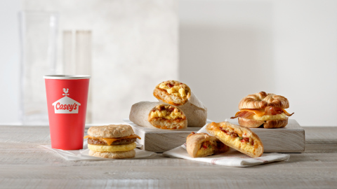 Casey's is introducing its new breakfast lineup. Guests can now start their day with the Signature Handheld, a handmade, perfectly portable breakfast option that starts with Casey's delicious, made-from-scratch dough along with an all-new Loaded Breakfast Burrito and Loaded Breakfast Bowl to complete the menu. (Photo: Business Wire)