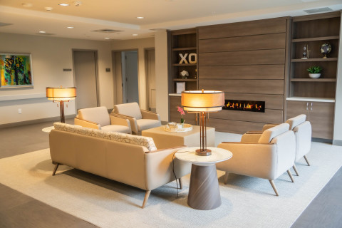 The lounge at LIVIA's new facility in East Hanover, NJ (Photo: Business Wire)