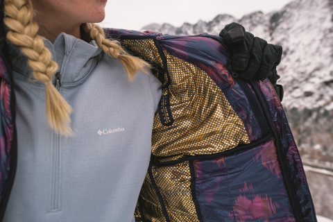 The women's Labyrinth Loop Hooded Jacket is the perfect companion for a cold winter hike with Columbia's new Omni-Heat Infinity thermal reflective lining. (Photo: Business Wire)
