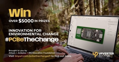 Upverter Education, a division of Altium, the IPC Education Foundation, and Arduino are partnering to create the first student design competition to engage, educate, and enhance students' proficiencies in PCB design, with a focus on solving some of the world's most pressing environmental challenges. (Photo: Altium LLC)