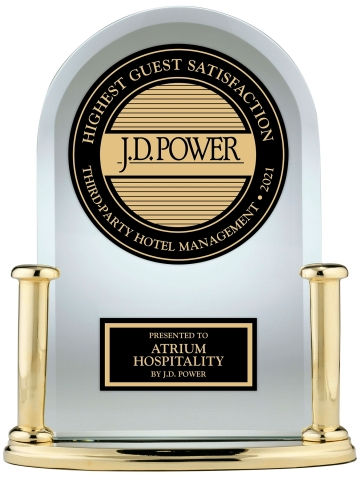 Atrium Hospitality has been recognized for being the best in guest satisfaction among third-party hotel management companies in the annual benchmark by J.D. Power. Alpharetta, Georgia-based Atrium Hospitality is one of the nation's largest hotel operators. (Photo: Business Wire)