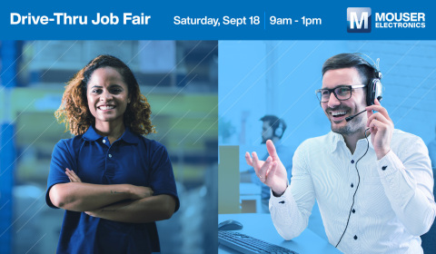Mouser Electronics will host an onsite Drive-Thru Job Fair from 9 a.m. to 1 p.m. on Saturday, September 18, at its headquarters in Mansfield, Texas. (Photo: Business Wire)