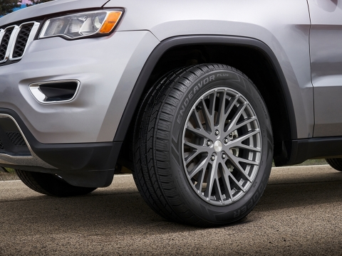 """The new Cooper Endeavor Plus for SUVs and pickup trucks offer a mix of wet performance, strong handling, and a long tread life for peace of mind in a variety of on-road conditions."""" (Photo: Business Wire)"""