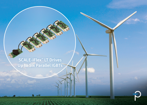 SCALE-iFlex LT plug-and-play gate driver improves IGBT module performance by 20%; targeting multiple applications in renewable energy generation and storage, and is particularly applicable to offshore wind turbines in the 3 to 5 MW range. (Graphic: Business Wire)