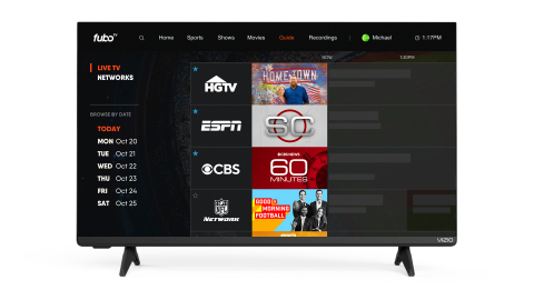 fuboTV Brings Live and On-Demand Sports, News and Entertainment to VIZIO SmartCast® (Photo: Business Wire)