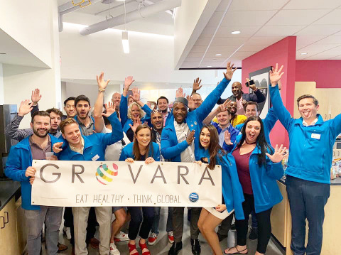 Grovara celebrating growth at its Philadelphia headquarters. (Photo: Business Wire)
