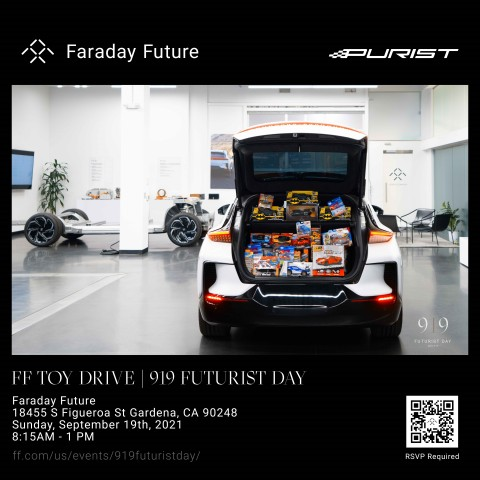 Faraday Future and the Purist Group Announce Toy Drive (Graphic: Business Wire)