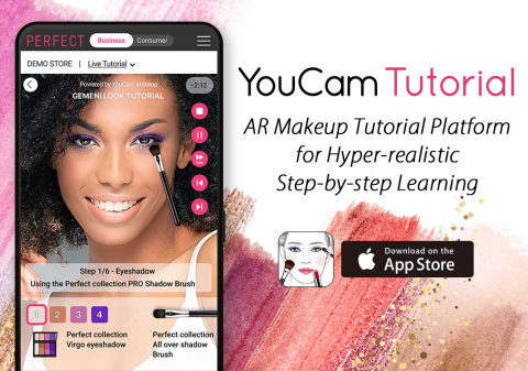 Perfect Corp. launches 'YouCam Tutorial' at NYFW: the world's first interactive AR virtual makeup teaching platform (Photo: Business Wire)