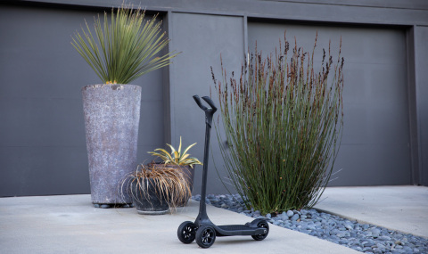Kick scooter printed with Stratasys Dura56 by LOCTITE (Photo: Business Wire)