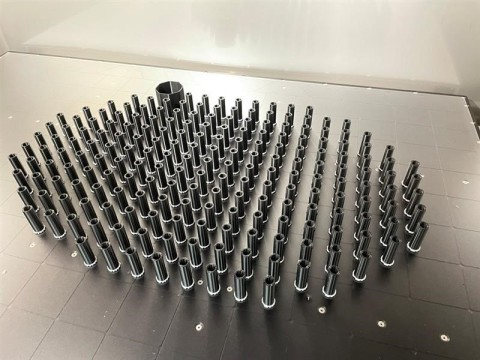 Daikin Applied HVAC cabinet spacers printed on the Stratasys F770 (Photo: Business Wire)