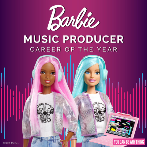 Barbie® Launches New Music Producer Doll to Highlight the Gender Gap in the Industry (Photo: Business Wire)