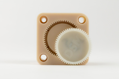This tool used for injection molding glass-filled nylon gears is 3D printed on EnvisionTEC's Perfactory P4K series printer using the e-PerFORM resin. (Photo: Business Wire)