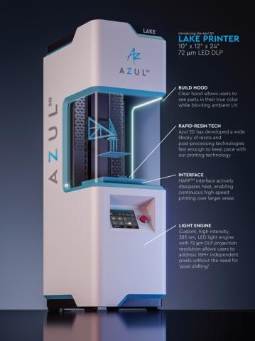 Azul 3D's LAKE printer. (Photo: Business Wire)
