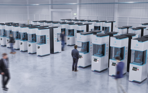 A rendering of Azul 3D's LAKE printers. (Photo: Business Wire)