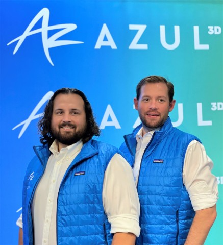 James Hedrick (left) and David Walker, two of the co-founders of Azul 3D. (Photo: Business Wire)