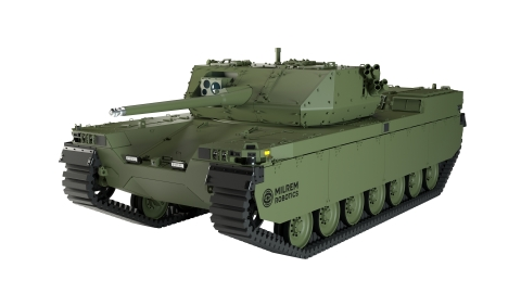The leading European robotics and autonomous systems developer Milrem Robotics is to develop a new Robotic Combat Vehicle (RCV) named Nordic Robotic Wingman in cooperation with the leading technology and defence supplier, Kongsberg Defence & Aerospace (KONGSBERG). (Photo: Business Wire)