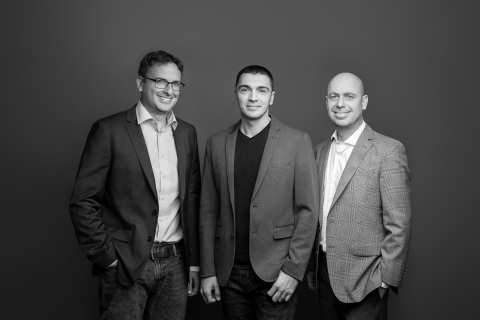 Peach founders, from left to right, Eran Sandler, Eddie Oistacher and Gur Brosh (Photo: Business Wire)