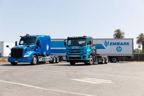 two Embark trucks (Photo: Business Wire)