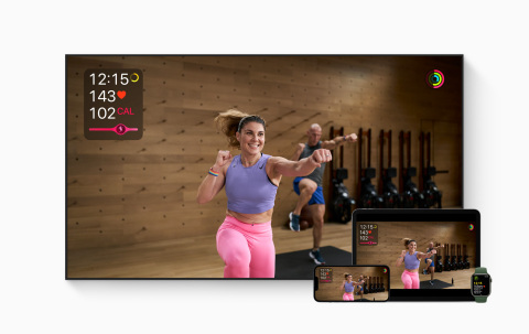 Apple Fitness+ welcomes people at every fitness level to train their bodies and minds, anytime, anywhere. (Graphic: Business Wire)