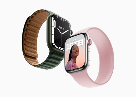 Introducing Apple Watch Series 7, featuring the largest, most advanced display. (Graphic: Business Wire)