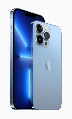 iPhone 13 Pro and iPhone 13 Pro Max, the most pro iPhone lineup ever, introduce all-new camera hardware, an intelligent display with ProMotion, the best graphics performance ever on iPhone, and amazing battery life. (Photo: Business Wire)