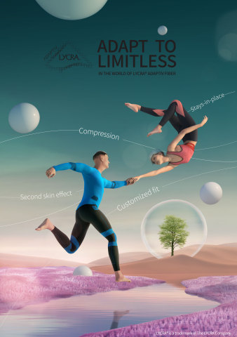 LYCRA® ADAPTIV fiber - new creative campaign from FCB (Photo: Business Wire)