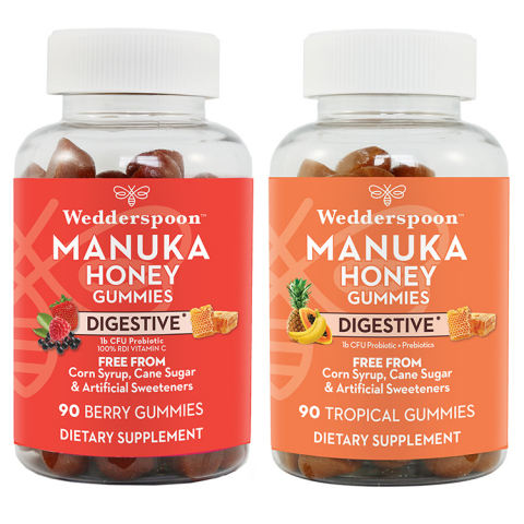Manuka Honey Gummy Supplements come in a variety of flavors for both immunity and digestive support. Our fruit flavored gummies provide a Manuka honey-packed bite of daily wellness the whole family will love. Free from: cane sugar, corn syrup, glucose or artificial sweeteners! (Photo: Business Wire)