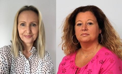 Disguise EMEA Business Development: Kim Lucas (left), Nathalie Ferrier (right) (Photo: Business Wire)