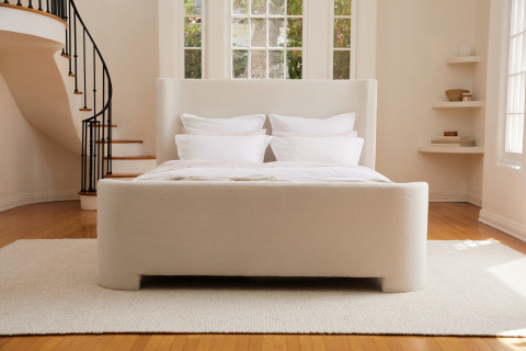 Parachute has launched its first line of handcrafted bed frames, available in three designs inspired by the landscape of southern California. (Photo: Business Wire)