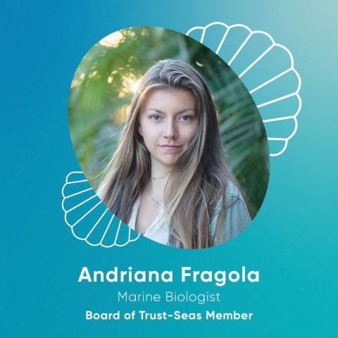 Andriana Fragola (she/her): Marine Biologist and Conservation Jewelry Artist. Headshot credited to Chiara Salomoni.