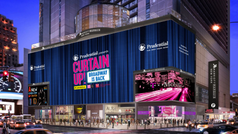 Prudential is the title sponsor of Curtain Up!, a three-day outdoor celebration of the return and revitalization of Broadway theater. (Photo: Business Wire)