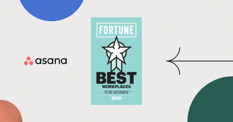 Asana ranked #9 on the Best Workplaces for Women in 2021, marking two consecutive years in the prestigious ranking's top 10. (Graphic: Business Wire)