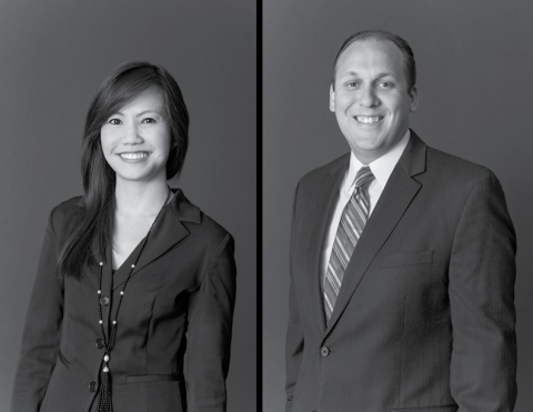 Duval & Stachenfeld LLP real estate practice group Co-Chairs Kim Le (left) and Christopher Gorman (right). (Photo: Business Wire)