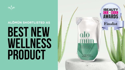 Alōmūn™ , a ready-to-drink aloe product offered by Jeunesse has been shortlisted for Best New Wellness Product in the 2021 Pure Beauty London Awards. (Photo: Business Wire)