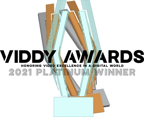 MONAT Global received 14 awards and nine honorable mentions at the 2021 Viddy Awards (previously known as The Videographer Awards). (Graphic: Business Wire)