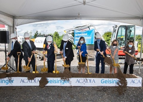 On September 16, 2021, Geisinger and Acadia Healthcare broke ground on the new Geisinger Behavioral Health Center Northeast slated to open in the fall of 2022 in Moosic, Pennsylvania. (Photo: Business Wire)
